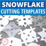 Snowflake Templates | Winter Fine Motor Cutting Patterns |