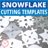 Snowflake Templates for Winter Fine Motor Practice |  Snow