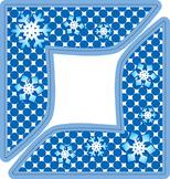 Snowflake Decorative Project Corners - Winter Decor