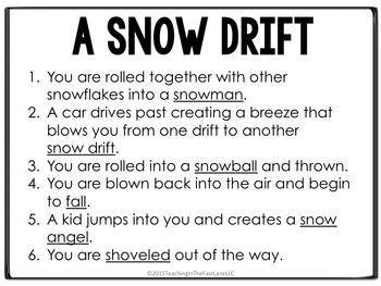 Winter Writing Activity Snowflake Dice Simulation