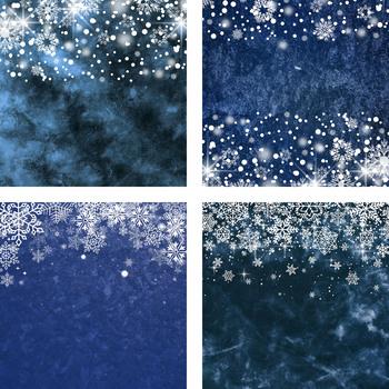 Snowflake Digital Paper, Ice And Snowflake Frames, Snowflake Borders