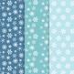 Snowflake Digital Paper. Winter, Snow, Christmas Patterns- 12 JPEGs