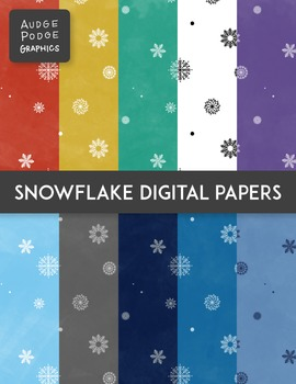 Snowflake Digital Papers FREEBIE