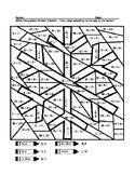 Snowflake Division Coloring Sheet