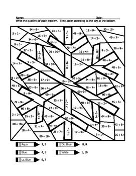 Snowflake Division Coloring Sheet by wisteacher | Teachers Pay Teachers
