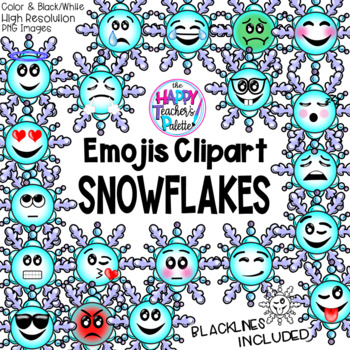 HTP Clip Art Snowflake Emojis {The Happy Teacher's Palette}