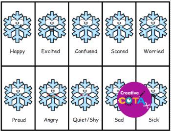Snowflake Emotion and Feelings Bingo