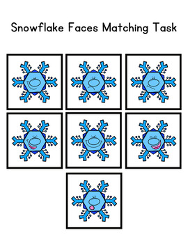 Snowflake Faces Matching Folder Game for Early Childhood Special Education