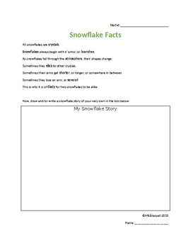 Snowflake Facts with Story Box and Word Bank