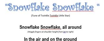 Snowflake Finger Play