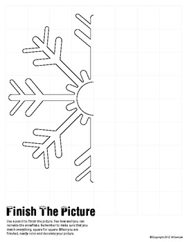 Snowflake - Finish the Picture (Symmetry)