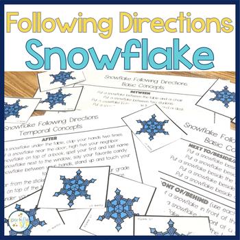 Following Directions Snowflake Theme Plus Sentence Strips