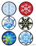 Snowflake Fraction Circles/Cut & Paste for Autism