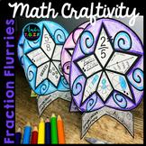 January Winter Math Craftivity Beginning Fractions - Snowf