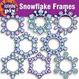 Snowflake Frames Clipart