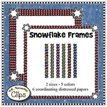 Snowflake Frames with Papers