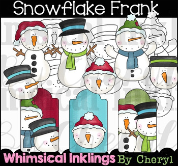 Snowflake Frank Clipart Collection