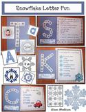 Winter Snowflake Fun Alphabet Craft Alphabet Games & Worksheets