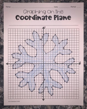 Snowflake (Graphing on the Coordinate Plane Mystery Picture)