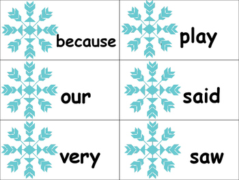 Snowflake High Frequency Words