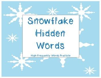 Snowflake High frequency Word Hunt