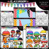 Snowflake Kids - Clip Art, B&W & Papers Bundle 1 (3 Sets)