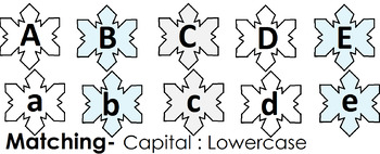 Snowflake Letter Matching Activities for Preschool