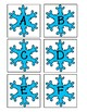 Snowflake Letter and Number Cards | Two Full Sets