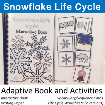 Snowflake Life Cycle adaptive book and activities