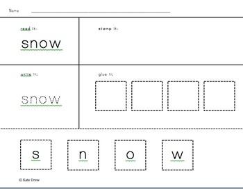Snowflake Literacy Activities