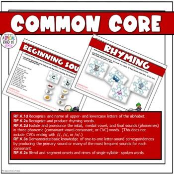 Snowflake Literacy Activities Aligned to Common Core