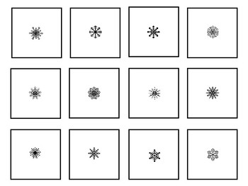 Snowflake Magnifying Glass Cards