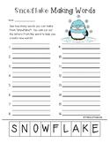 Freebie: Snowflake Making Words Activity
