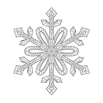 snowflake mandala coloring page by delta class tpt. Black Bedroom Furniture Sets. Home Design Ideas