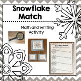 Snowflake Match Preschool PreK Kinder