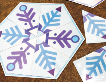 Snowflake Matching Puzzle Activity