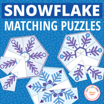 snowflakes | snowflake matching puzzles | snow activities