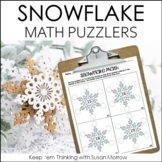 Snowflake Math Brain Bogglers FREE