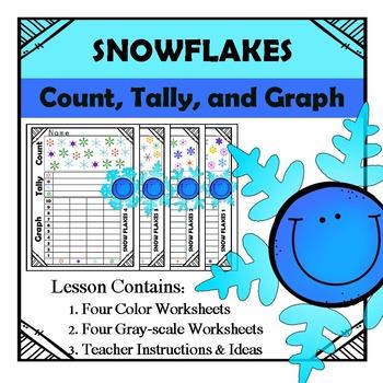 Snowflake Math - Count, Tally, & Graph