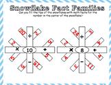 Snowflake Math Fact Families