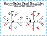 Snowflake Math Fact Families