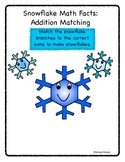 Snowflake Math Facts Matching Game