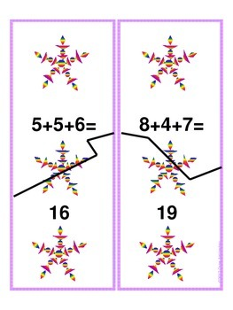 Snowflake Math, Literacy and Art Center Package