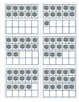 Snowflake Math - Matching teens