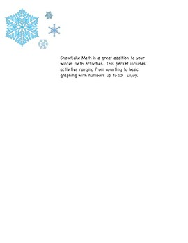 Snowflake Math Packet