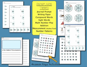 Snowflake Math and ELA Activities