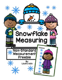 Snowflake Measuring - Non-standard measurement Freebie!