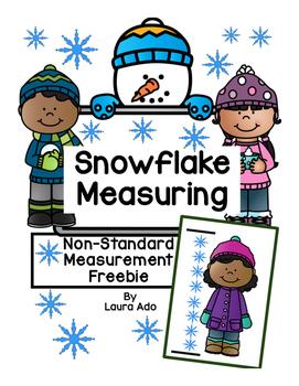 Snowflake Measuring - Non-standard measurement Freebie!