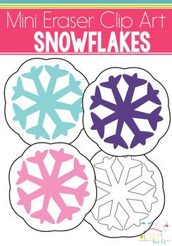 Snowflake Mini Eraser Clip Art