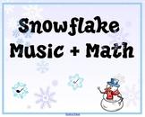 Snowflake Music Math SMARTBoard Activity